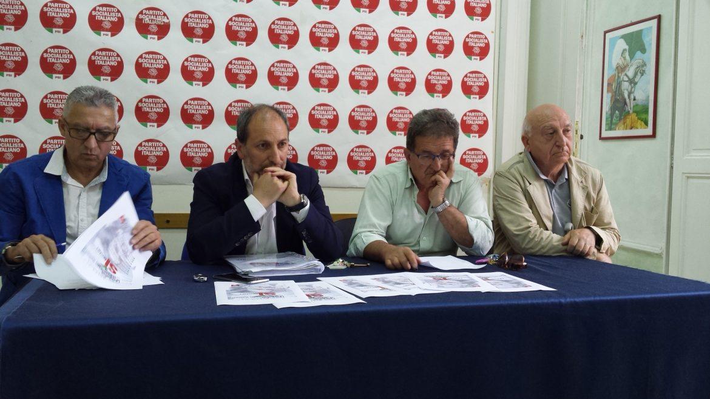 La conferenza stampa del PSI