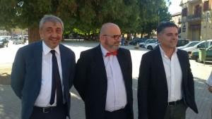 L'assessore Arena, il consigliere regionale Ioffredi e il presidente di 'Vivi Bojano' Iannetta