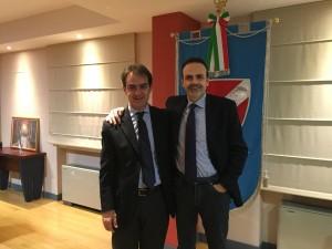 Il governatore Frattura e l'assessore Veneziale