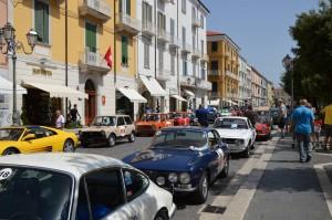 Targa del Matese: la partenza lungo Corso Vittorio Emanuele a Campobasso