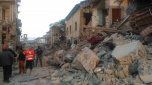 Il comune di Amatrice è stato distrutto dal sisma