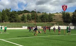 Una fase dell'allenamento del Campobasso (foto sito ufficiale club)
