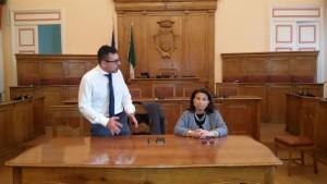 Gli assessori Salvatore Colagiovanni ed Emma de Capoa