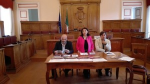 L'assessore de Capoa tra il consigliere regionale Ioffredi e il regista Pommier