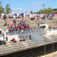 La Curva Nord 'Michele Scorrano' prima della partita tra Campobasso e Sammaurese