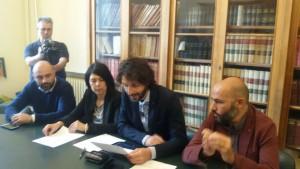 La conferenza stampa dei consiglieri comunali del Movimento 5 Stelle