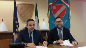 Il governatore Frattura e l'assessore Facciolla