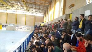 Il pubblico della Chaminade Campobasso al campo di calcio a 5 dello 'Sturzo'