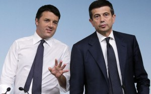 Il premier Renzi e l'ex ministro Lupi (foto L'Espresso)