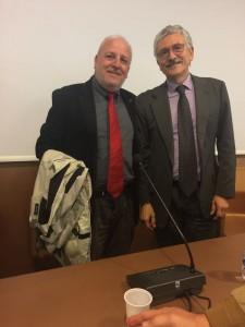 Il consigliere regionale Salvatore Ciocca e l'ex premier Massimo D'Alema
