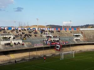 I tifosi del Campobasso presenti contro il Chieti