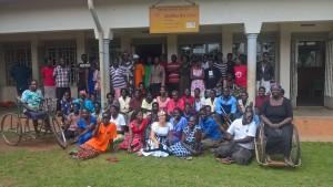 La molisana Giuseppina D'Amico con il gruppo di lavoro a Gulu