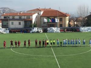 Il saluto iniziale di Agnonese - Romagna Centro