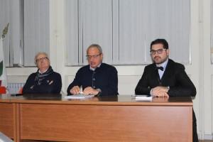 Il sindaco D'Angelo, il presidente Pietracupa e il giornalista Formato