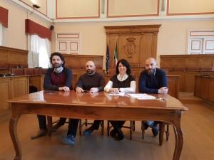 I consiglieri comunali del Movimento 5 Stelle Gravina, Praitano, Felice e Cretella