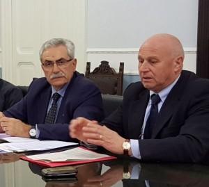 I presidenti delle Province di Campobasso e Isernia, Battista (a destra) e Coia