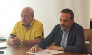 Il governatore Frattura e il consigliere regionale Ciocca