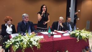 La visita del ministro De Vincenti. Al tavolo, Venittelli, Sbrocca, Fanelli e Frattura