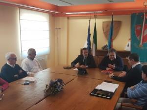 Il governatore Frattura, l'assessore Nagni e i sindaci di Montefalcone, Montemitro, Acquaviva Collecroce e San Felice del Molise