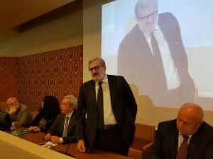L'intervento del governatore Michele Emiliano nella Sala della Costituzione della Provincia di Campobasso