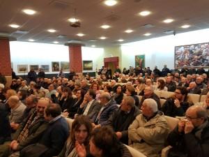 Il pubblico presente all'incontro di Emiliano