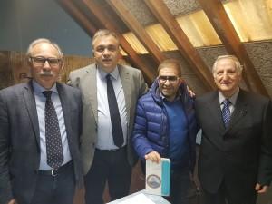 Il neo-presidente della FIB Molise, Angelo Spina (il secondo da sinistra), con Del Vecchio, Fontanella e Bax