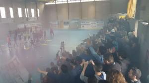 La Chaminade Campobasso festeggia al 'PalaSturzo' dopo la salvezza ottenuta nell'ultimo campionato di serie B