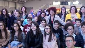 Gli studenti della 3^ E della 'Petrone' col ministro Fedeli