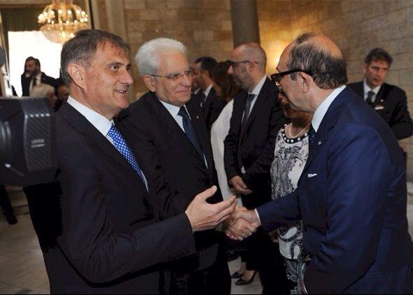 Il presidente del Consiglio regionale, Vincenzo Cotugno, e il Capo dello Stato, Sergio Mattarella