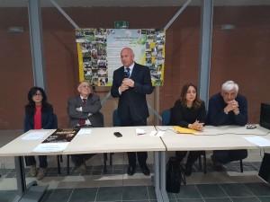 Il sindaco Antonio Battista durante l'inaugurazione