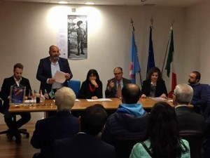 Un momento della conferenza stampa di presentazione della mostra