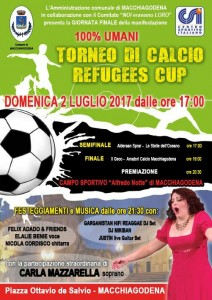 2 Luglio locandina Macchiagodena Refugees Cup