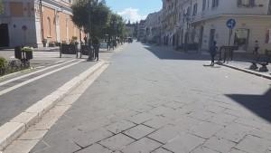 Corso Vittorio Emanuele poche ore dopo la fiera di Corpus Domini