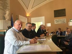 Il consigliere regionale Salvatore Ciocca e il sindaco di Venafro, Antonio Sorbo