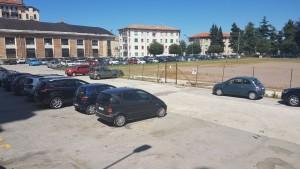 L'ex stadio 'Romagnoli' poche ore dopo la fiera di Corpus Domini