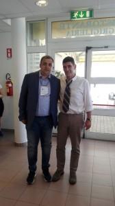 Il presidente della FIB Molise, Angelo Spina, col numero uno delle bocce italiane, Marco Giunio De Sanctis