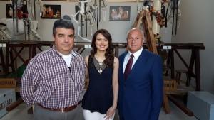 La 'Donzella' Maria Chiara De Michele col sindaco Antonio Battista e Liberato Teberino