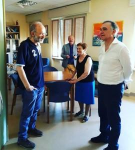 Il governatore della Toscana, Rossi, all'Hospice di Larino