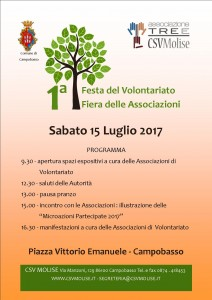 MANIFESTO- programma 15 LUGLIO festa del volontariato