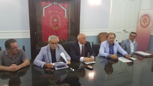 Un momento della conferenza stampa nella Sala Giunta della Provincia di Campobasso