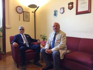 Il consigliere regionale Salvatore Ciocca e l'ingegner Antonio Barone