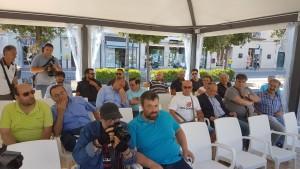 I tifosi presenti alla conferenza stampa