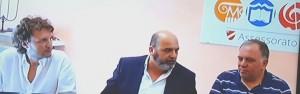Il direttore artistico Simone Sala con Ioffredi e Cefaratti