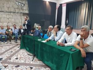 Il tavolo dei relatori del primo incontro dell'Ulivo 2.0