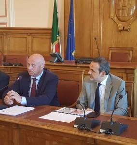 Il sindaco Battista e il governatore Frattura