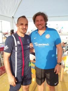 L'allenatore Bonetti con il trainer del Foggia, Stroppa