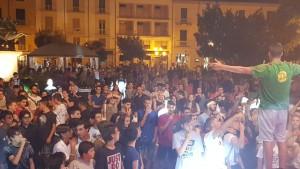 Piazza Vittorio Emanuele II durante l'esibizione delle band giovanili