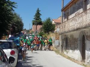 Il gruppo di 'Cammina, Molise 2017' a Santo Stefano (foto Annalisa Giuliano)
