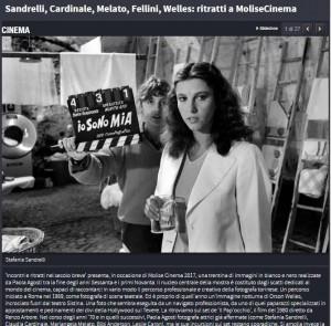 La pagina di repubblica.it dedicata a MoliseCinema
