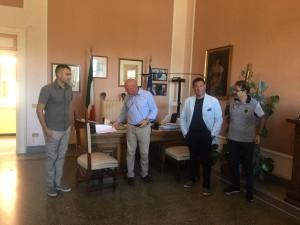 La conferenza stampa sulle scuola: con Battista, i consiglieri Trivisonno, Bucci e Di Renzo